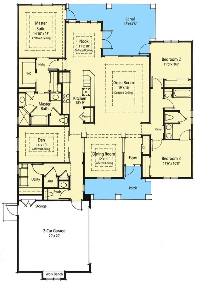Super energy efficient house plan 33019zr 1st floor for Super insulated home plans