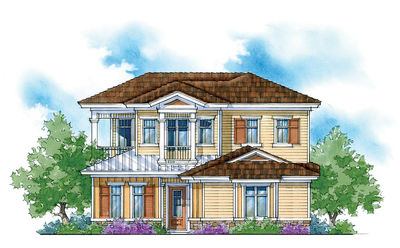 Energy-Saving Courtyard Home Plan - 33039ZR thumb - 01