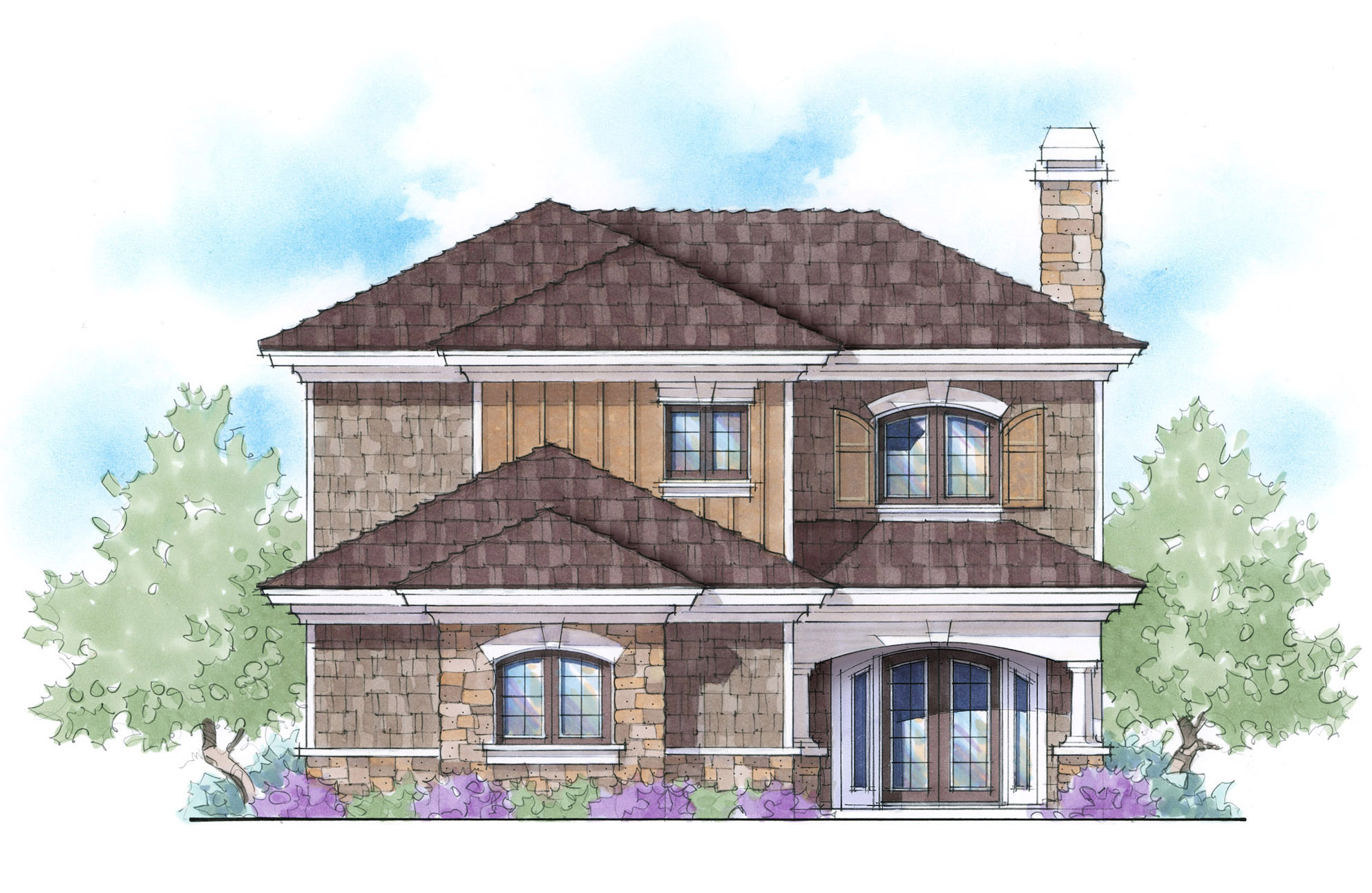 2 Story Energy Smart Home Plan 33058zr 1st Floor