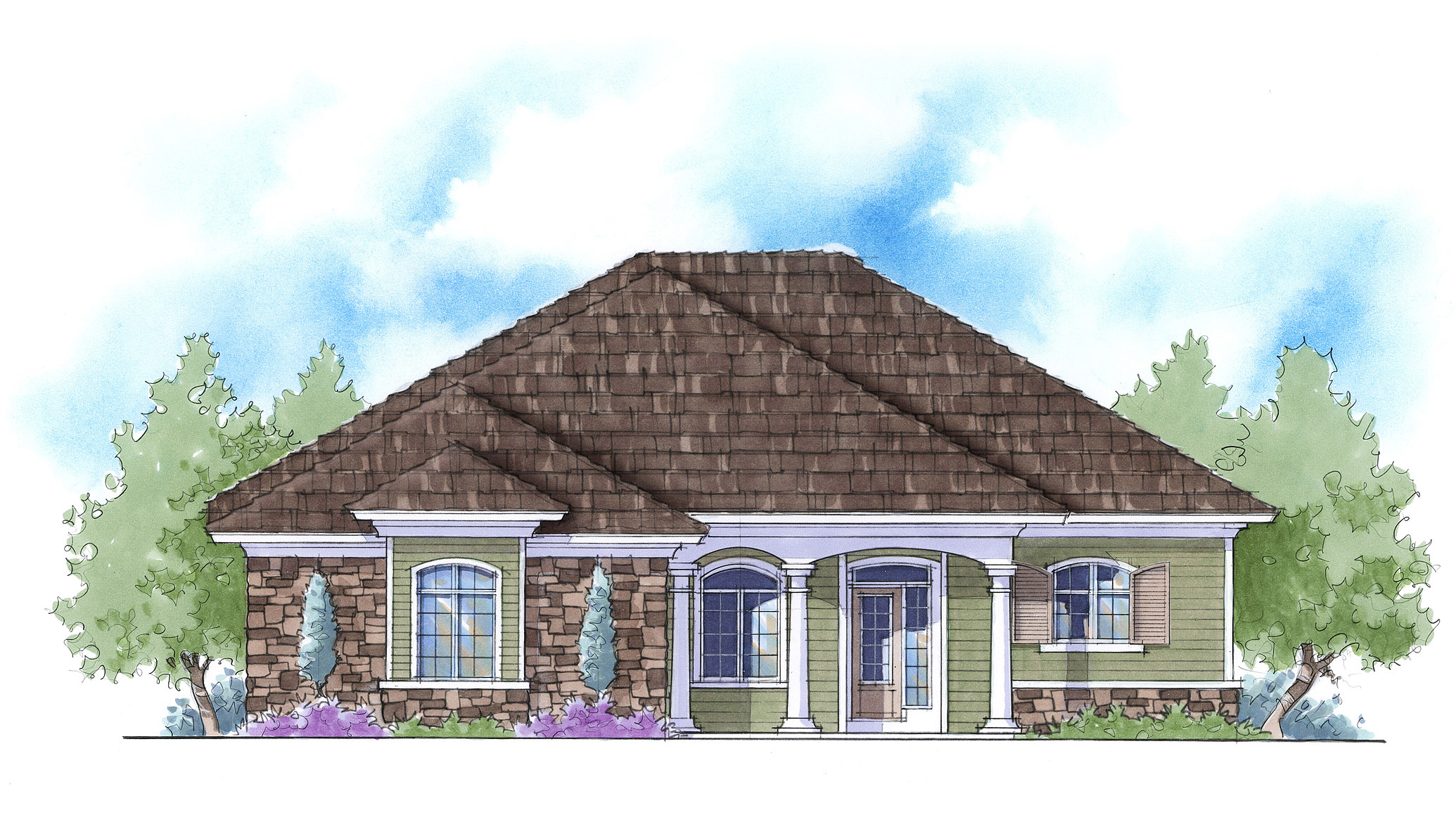 Dual master suite energy saver 33094zr architectural for Double master suite house plans