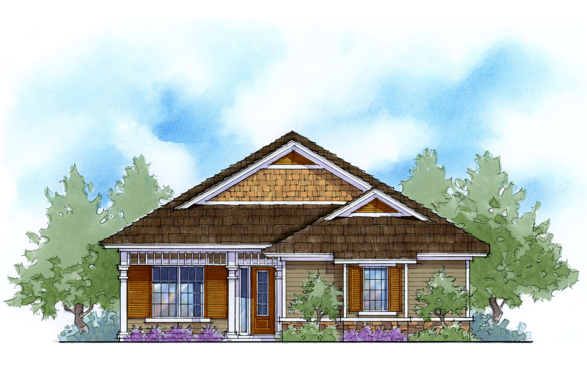 Narrow lot energy efficient cottage 33099zr for Energy efficient cabin