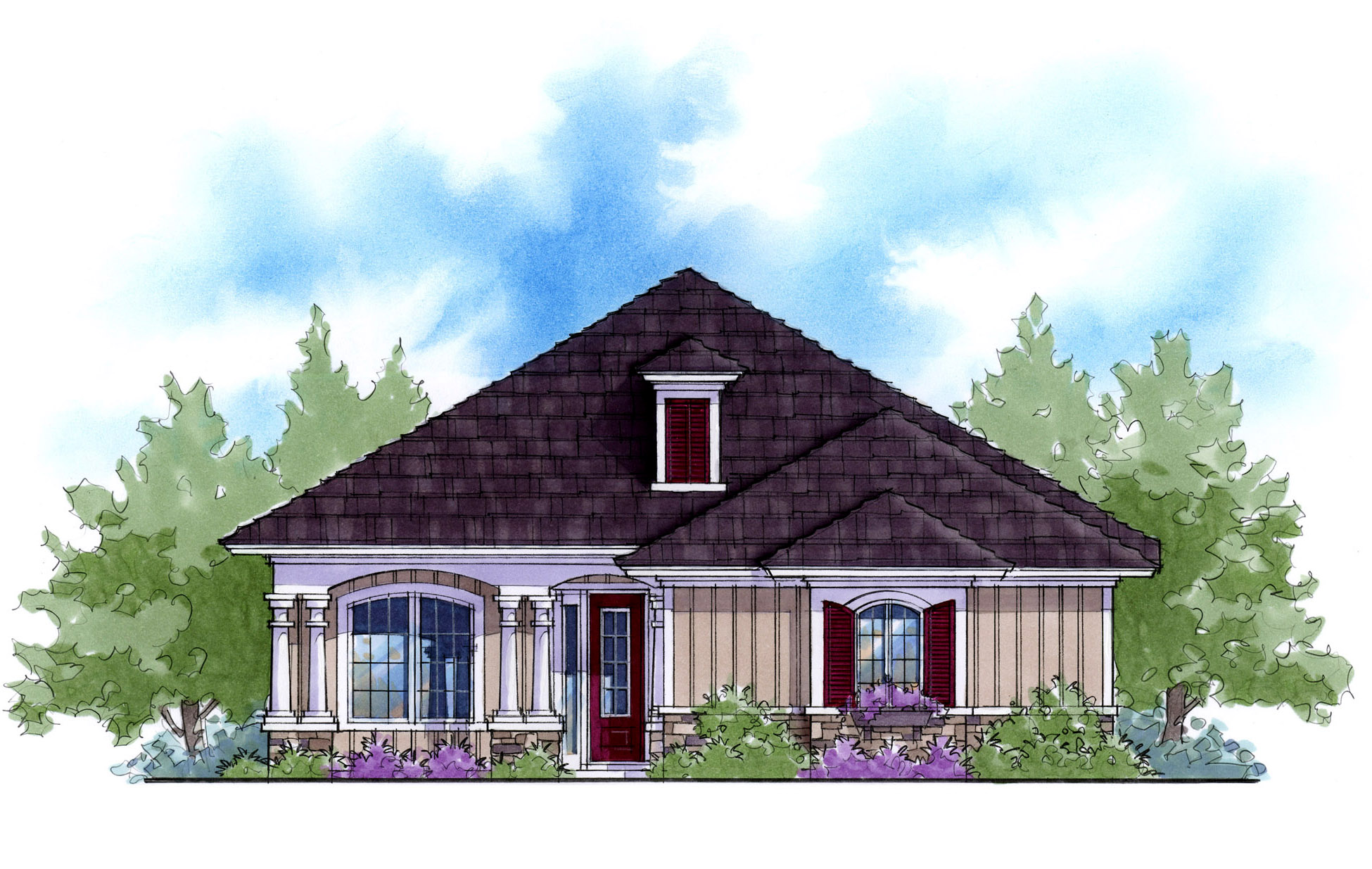 Energy Saving Narrow Lot Cottage 33100zr Architectural
