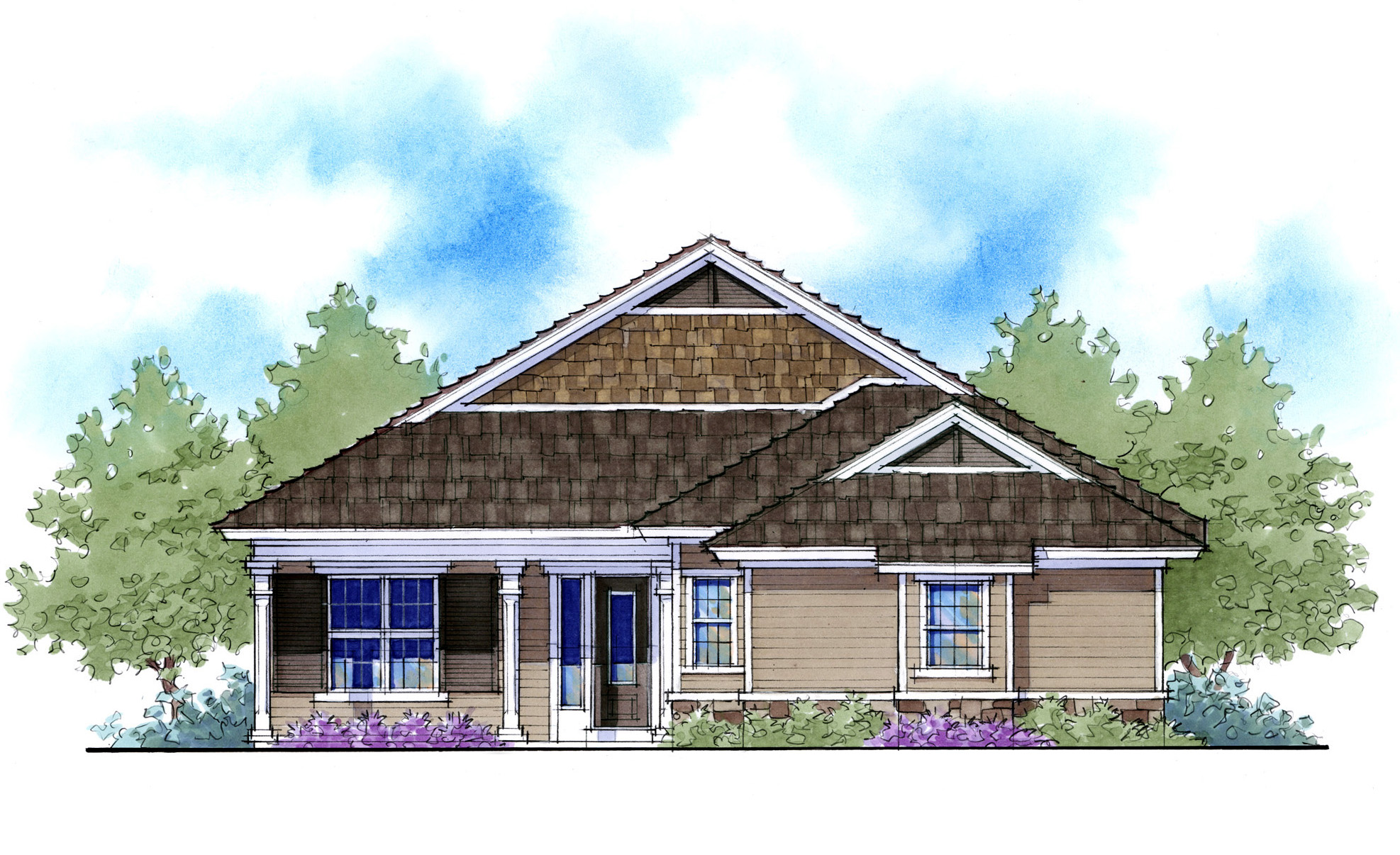 Net zero ready home plan with 3 elevations 33111zr for Net zero home designs