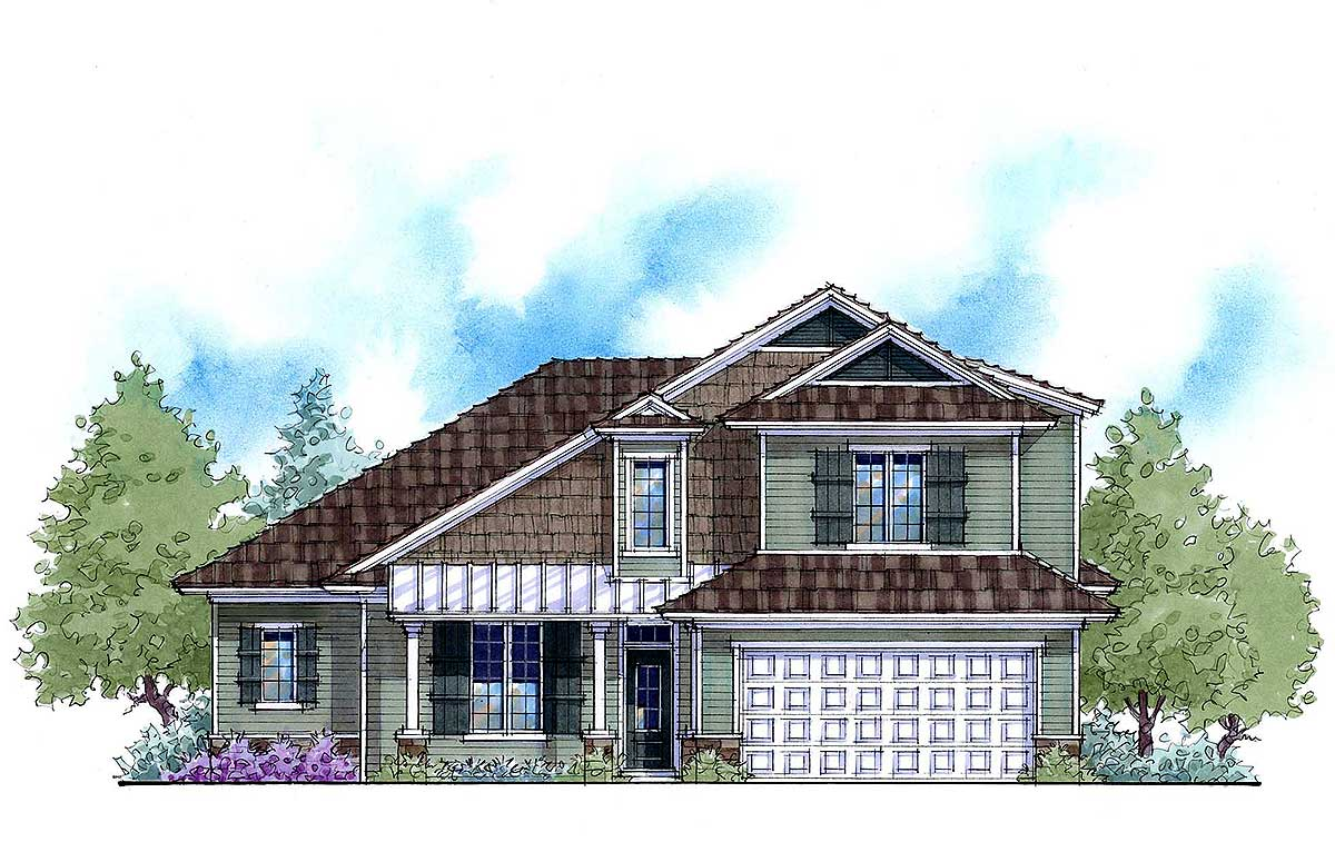 2 Story Net Zero Stock Home Plan 33114zr Architectural