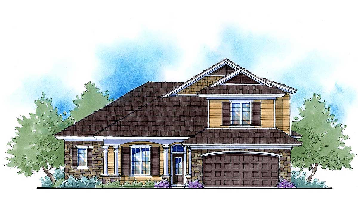 2 Story Net Zero House Plan 33115zr 1st Floor Master