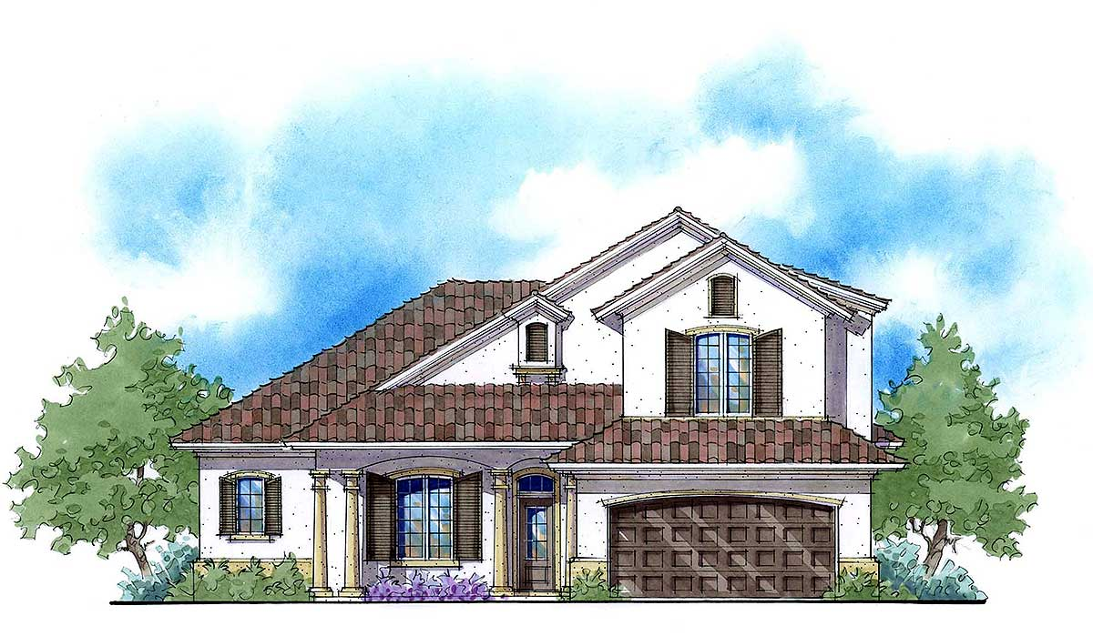 2 story mediterranean net zero home plan 33116zr for Net zero home design