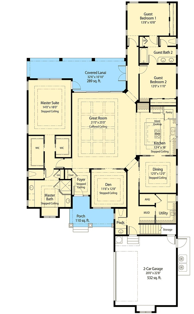 Energy saver house plan 33126zr 1st floor master suite for House plans for large lots