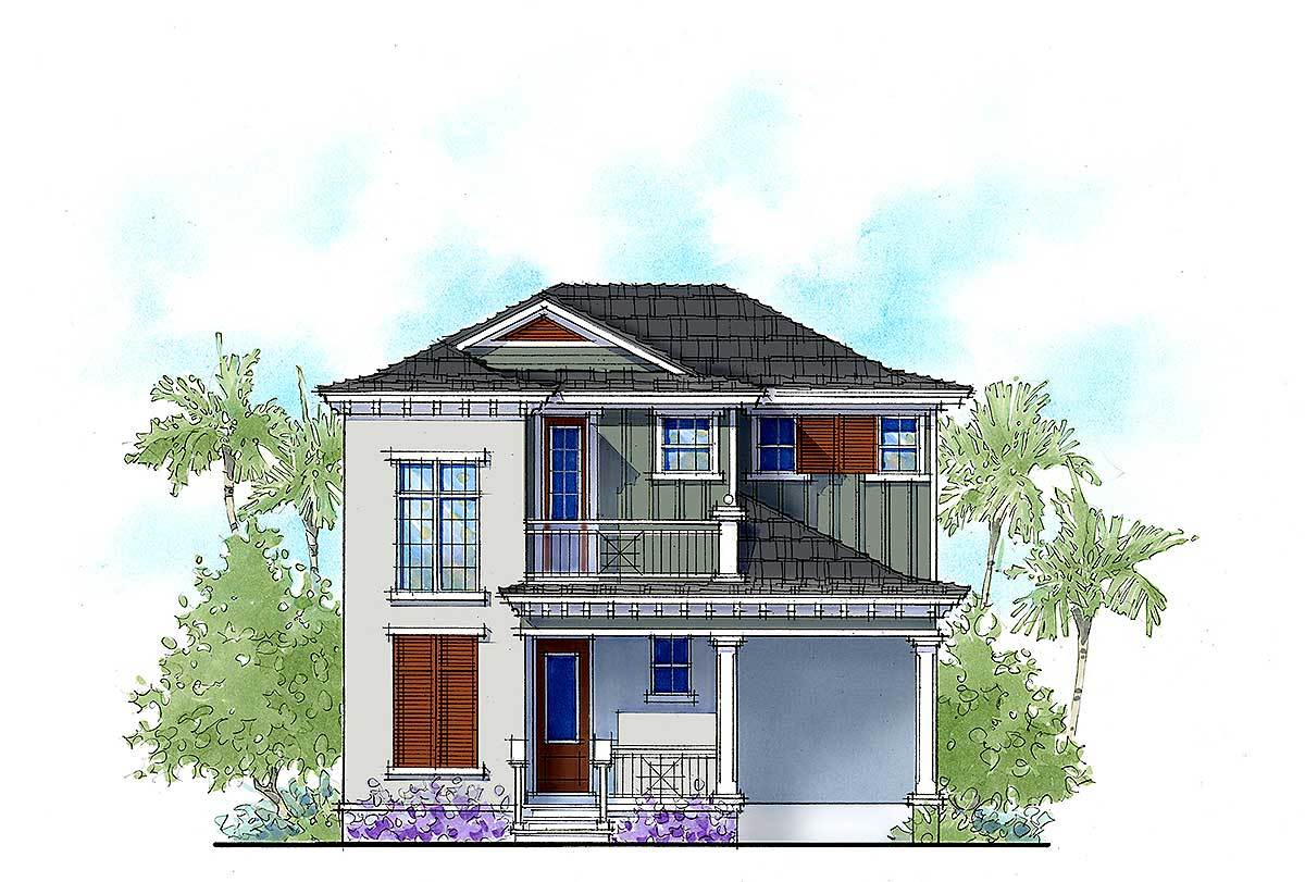 Two bed vacation cottage house plan 33155zr for Bunk house plans
