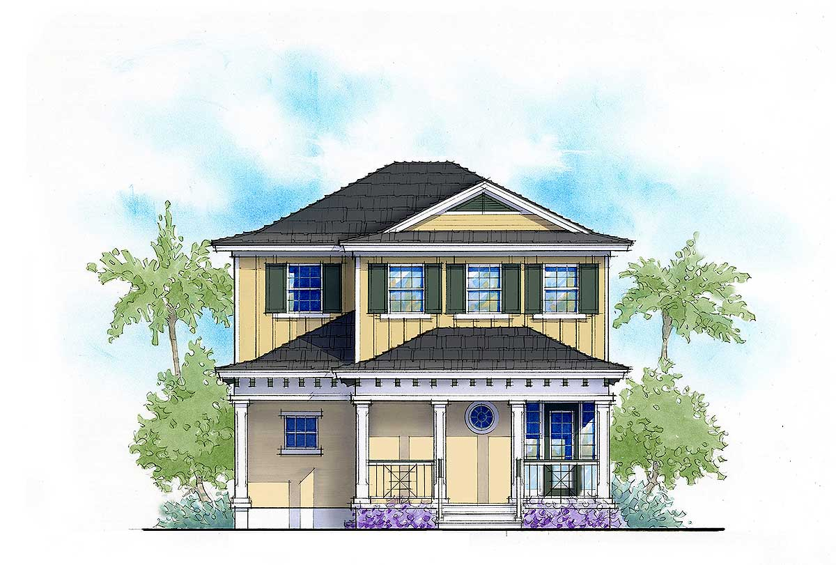 Net zero ready 3 bed cottage house plan 33156zr for Net zero house plans