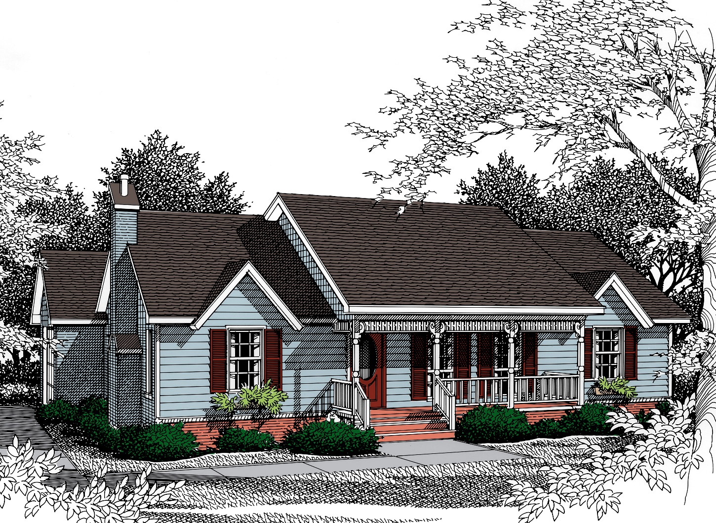 Compact home for corner lot 3402vl architectural for Corner lot home plans