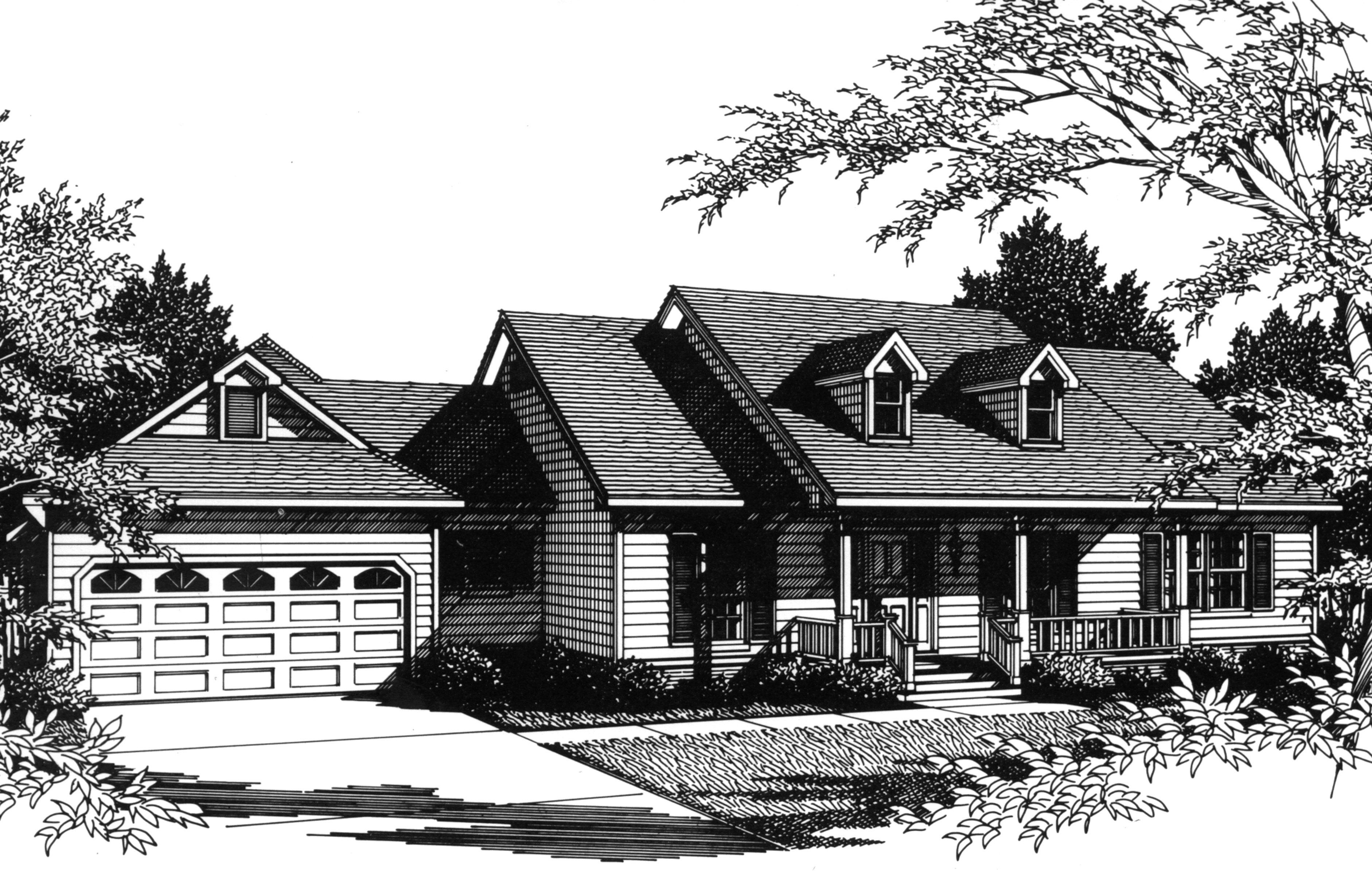 one story farmhouse plan 3424vl architectural designs house plans