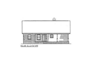 Starter Home With Two Covered Porches - 3435VL thumb - 03
