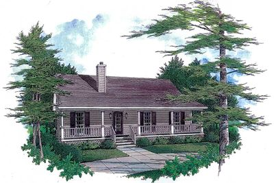 Starter Home With Two Covered Porches - 3435VL thumb - 01