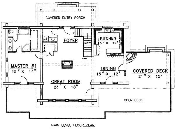 Spacious Log Home Plan