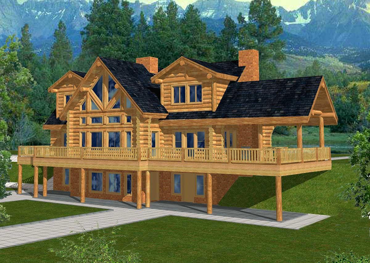 Spacious Log Home Plan   GH   st Floor Master Suite  CAD    Reset Password