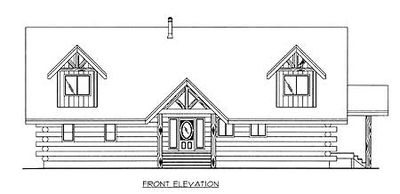 Mountain Log House Plan - 35127GH thumb - 02