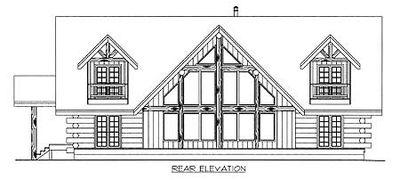 Mountain Log House Plan - 35127GH thumb - 03