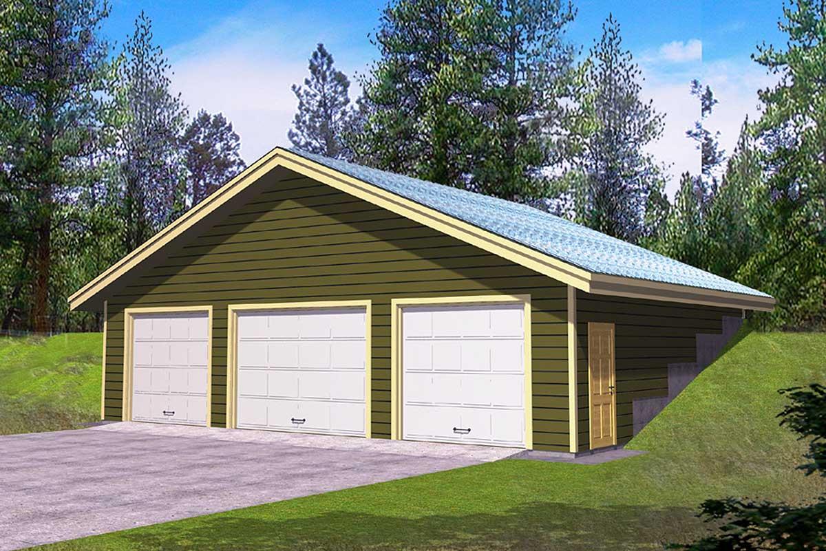 3 car detached garage plan 35190gh architectural for 3 car detached garage plans