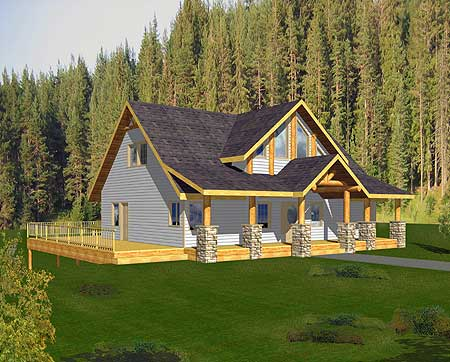 Mountain home plan with drive under garage 35313gh contemporary mountain northwest - House plans with garage below ...
