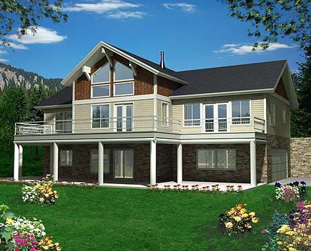 35329gh 1st floor master suite butler walk in pantry for Best drive under house plans