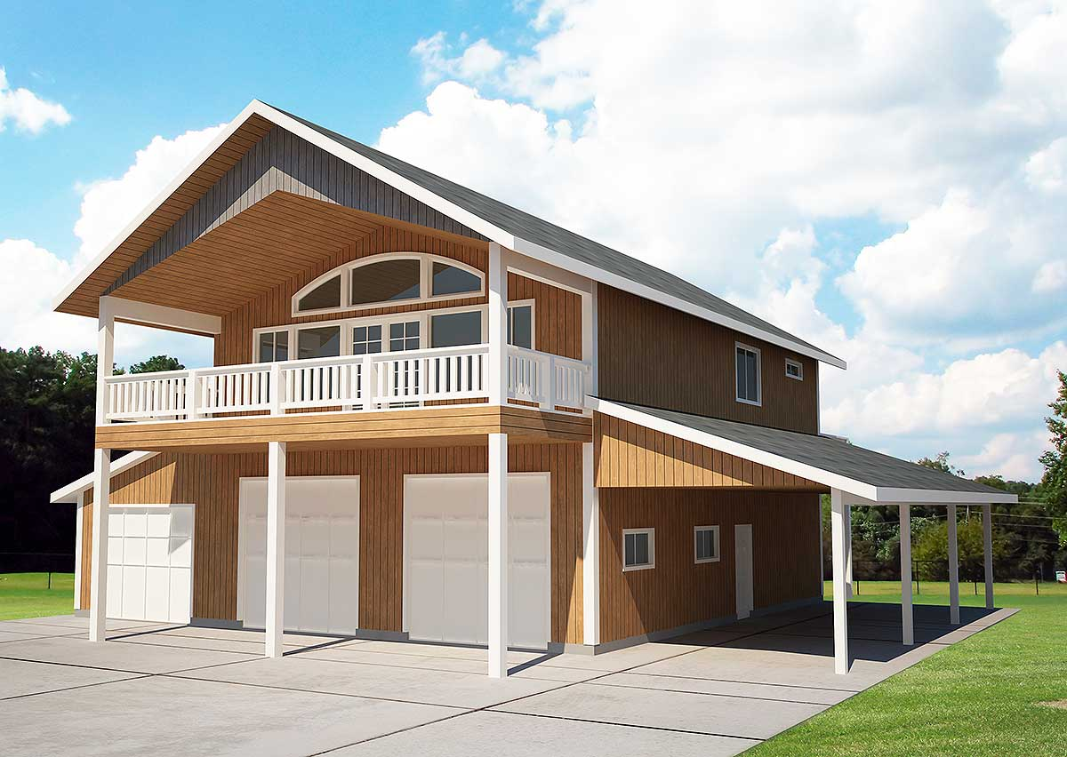 5 car favorite with vaulted spaces 35401gh for Pictures of garage apartments