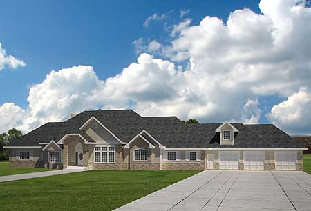 Extra large ranch home plan 35404gh architectural for Large ranch house plans