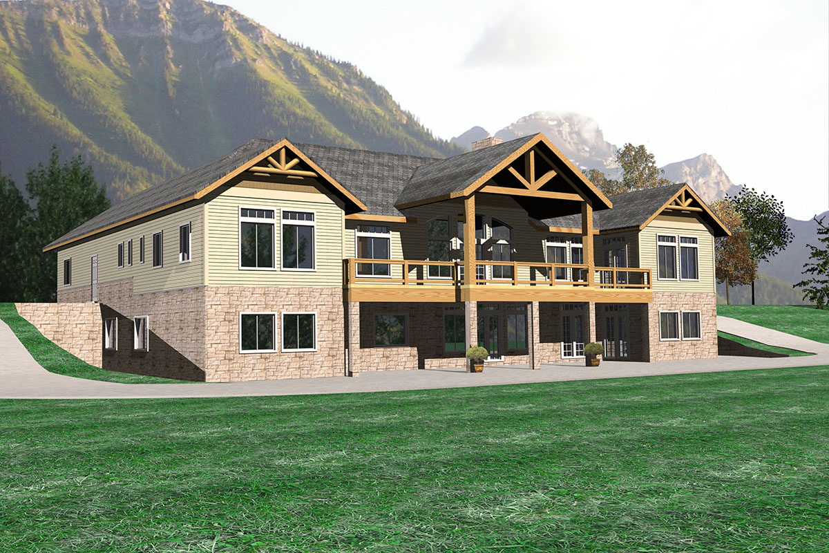 Luxurious mountain lodge 35415gh architectural designs for Mountain lodge home plans