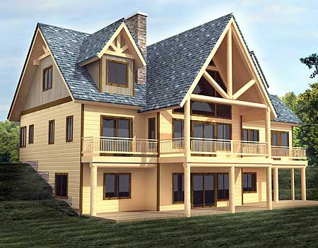 Majestic mountain home plan 35439gh 1st floor master for Mountain vacation home plans