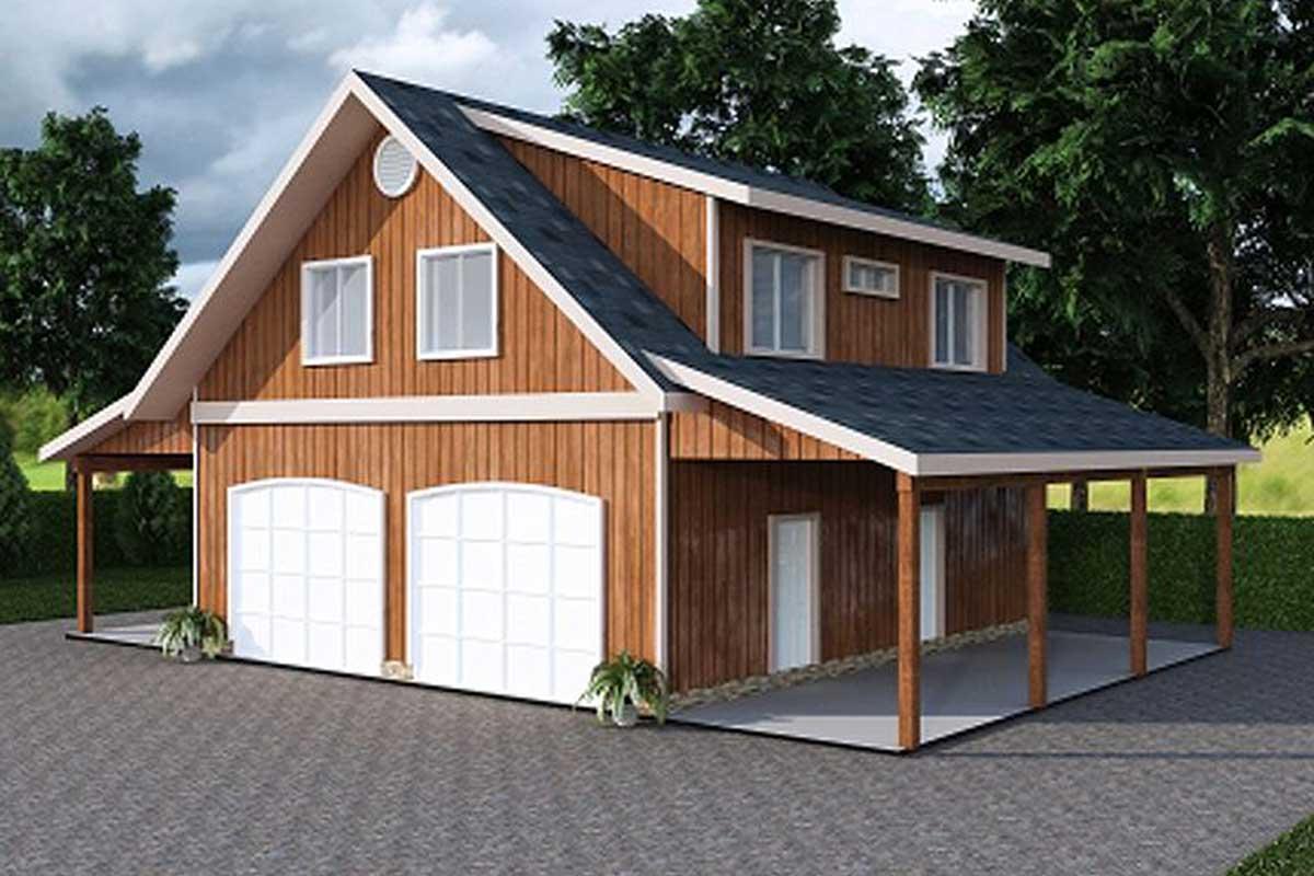 Garage Apartment With Art Studio - 35443GH