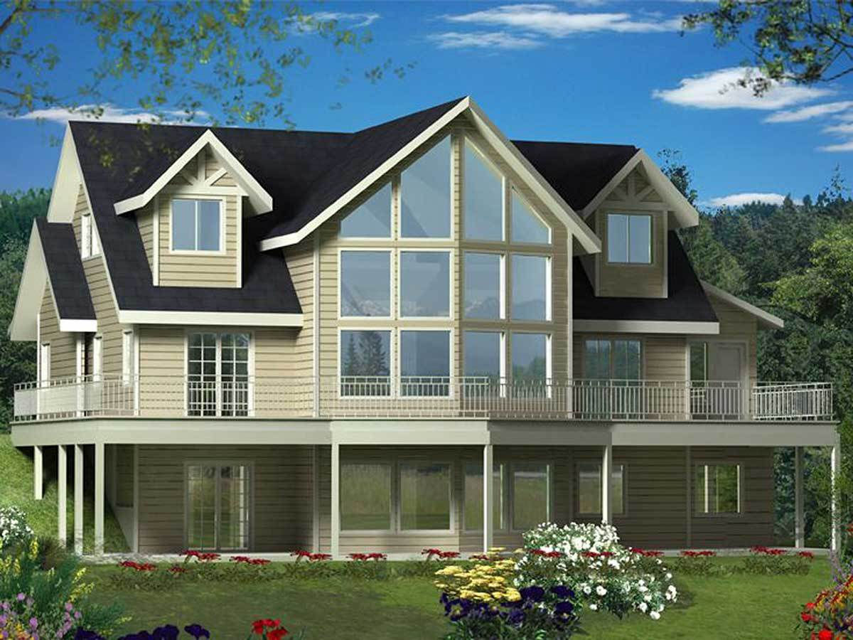 Dramatic two story windows 35484gh architectural for House plans with windows