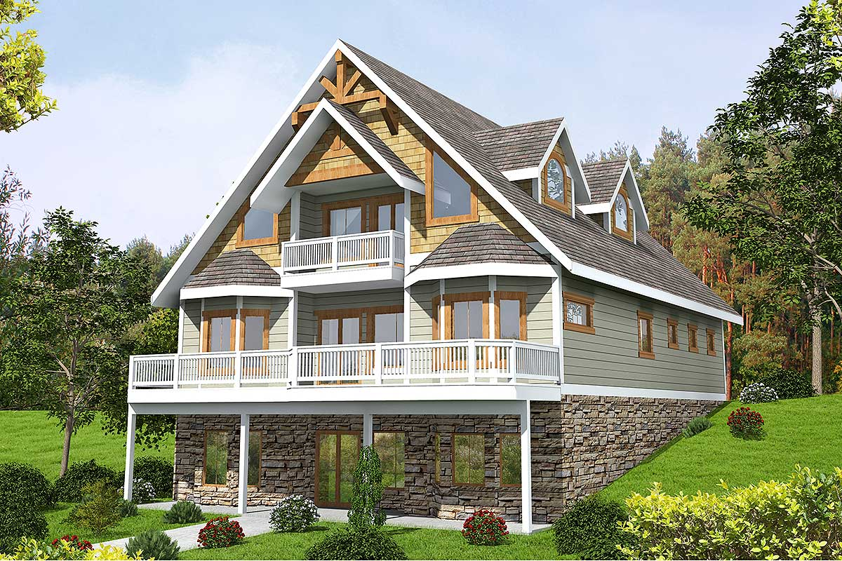 Mountain House Plan With Expansion Possibilities