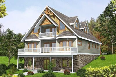 Mountain House Plan With Expansion Possibilities   35510GH Thumb   01