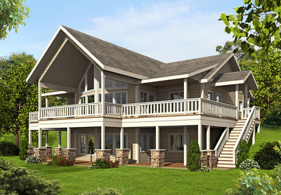 mountain house plan with up to four bedrooms - 35511gh