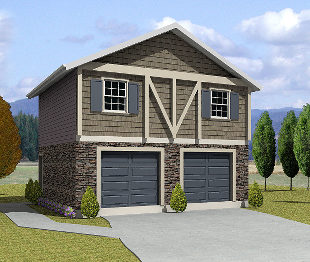 Two bedroom carriage house 3562wk architectural for Modular carriage house garage