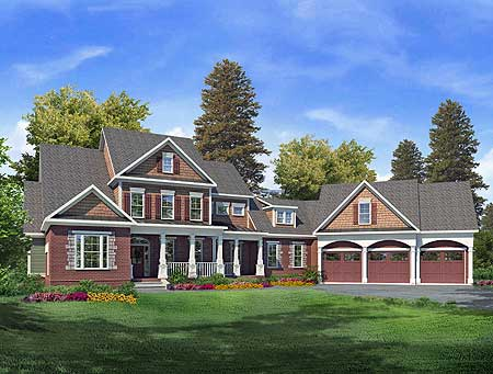 Craftsman house plan with media room 36007dk 1st floor for Craftsman house plans with bonus room