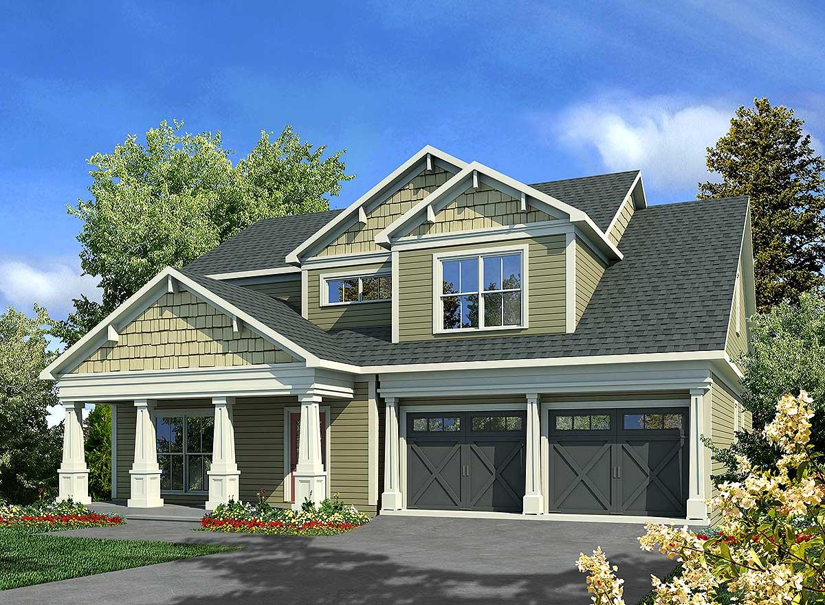 Craftsman style 36017dk architectural designs house for Architectural designs craftsman style homes