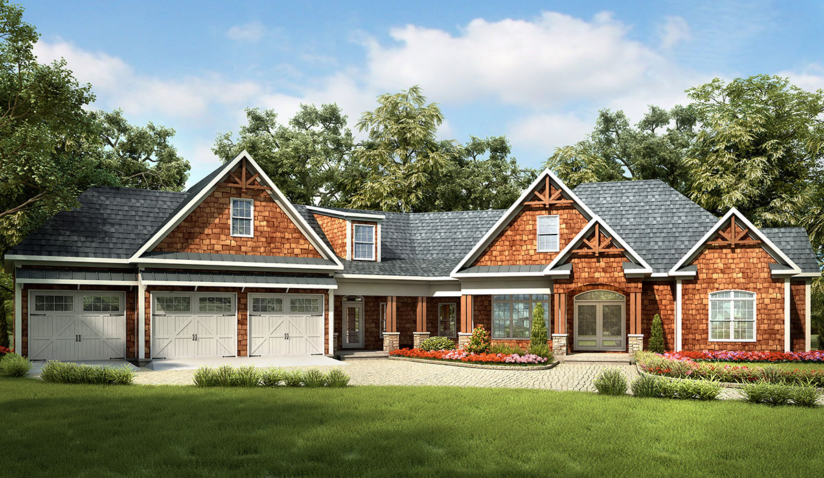 Craftsman House Plan With Expansion Possibilities