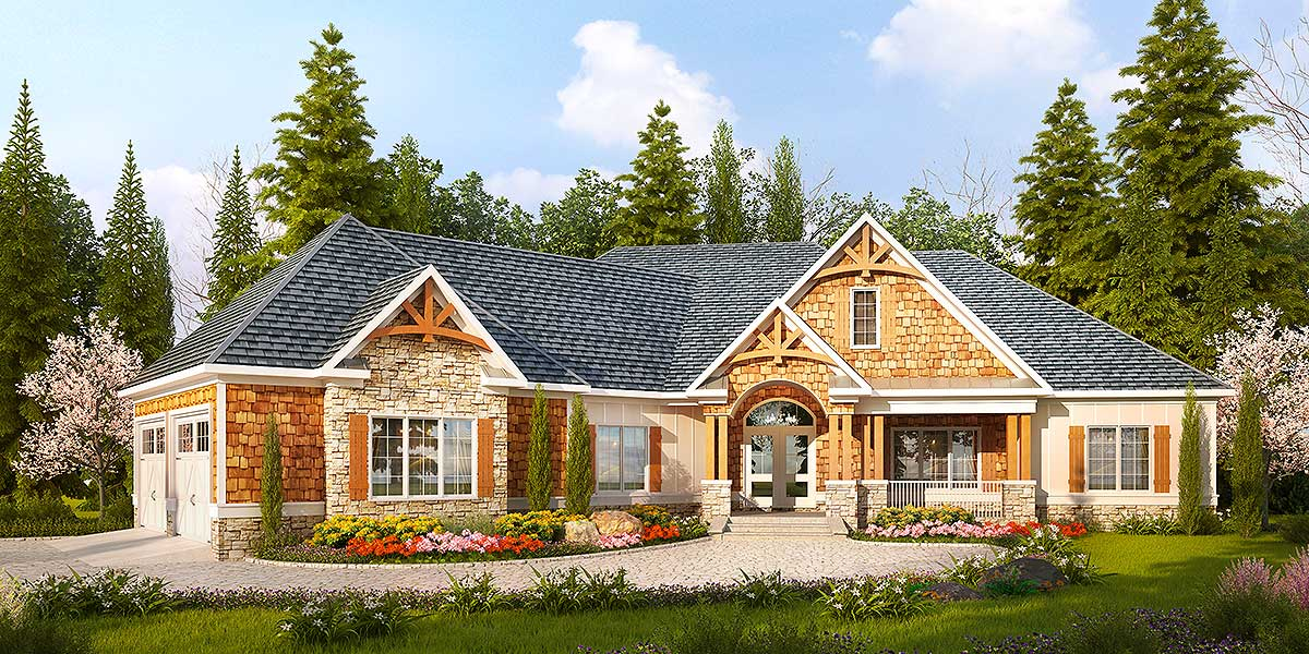 Designer mountain lodge 36030dk architectural designs for Mountain lodge home plans