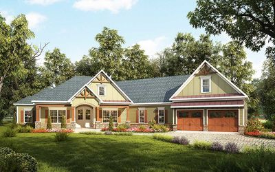 Craftsman House Plan with Angled Garage - 36031DK thumb - 52