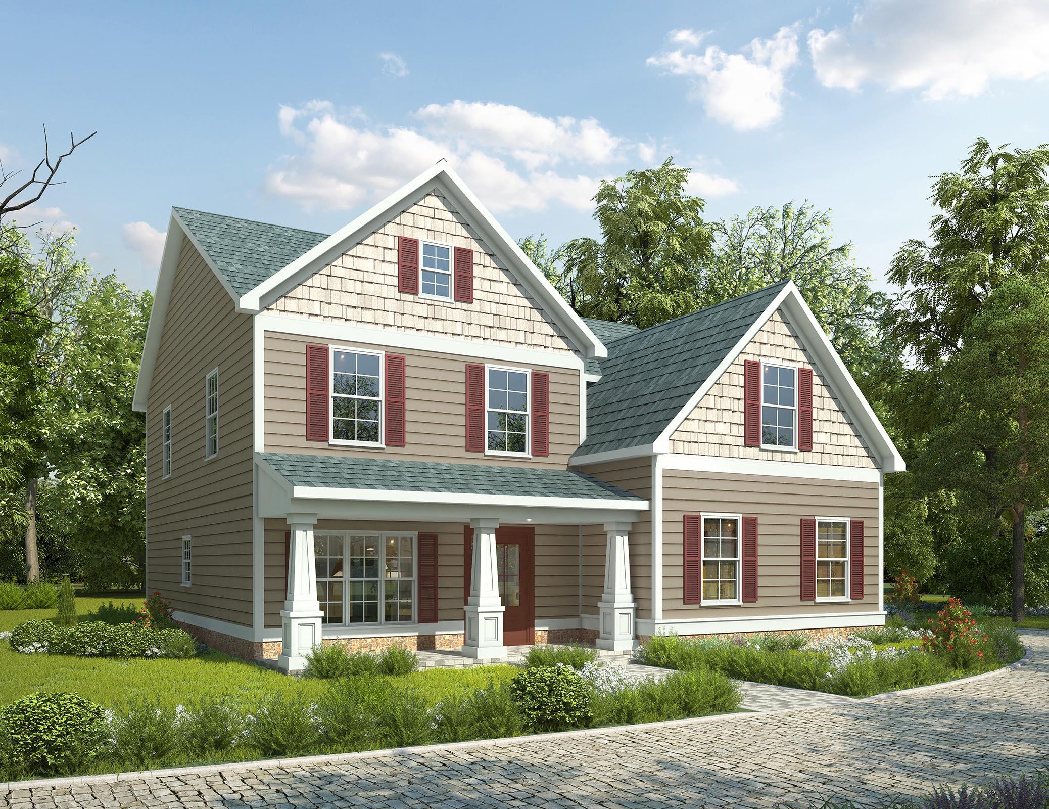 Narrow lot craftsman house plan 36036dk 2nd floor for Craftsman style house plans for narrow lots