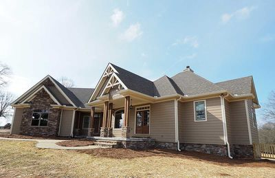 Angled Craftsman Home Plan with Outdoor Spaces - 36043DK thumb - 02