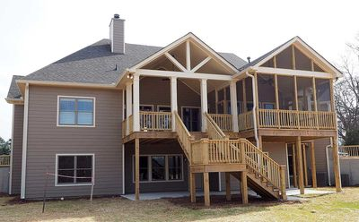 Angled Craftsman Home Plan with Outdoor Spaces - 36043DK thumb - 05