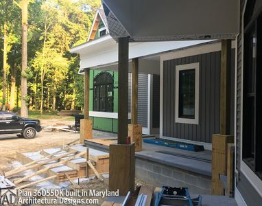 Modified House Plan 36055DK built in Maryland - photo 015