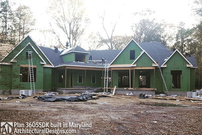 Modified House Plan 36055DK built in Maryland - photo 007