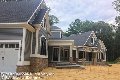 Modified House Plan 36055DK built in Maryland - photo 003