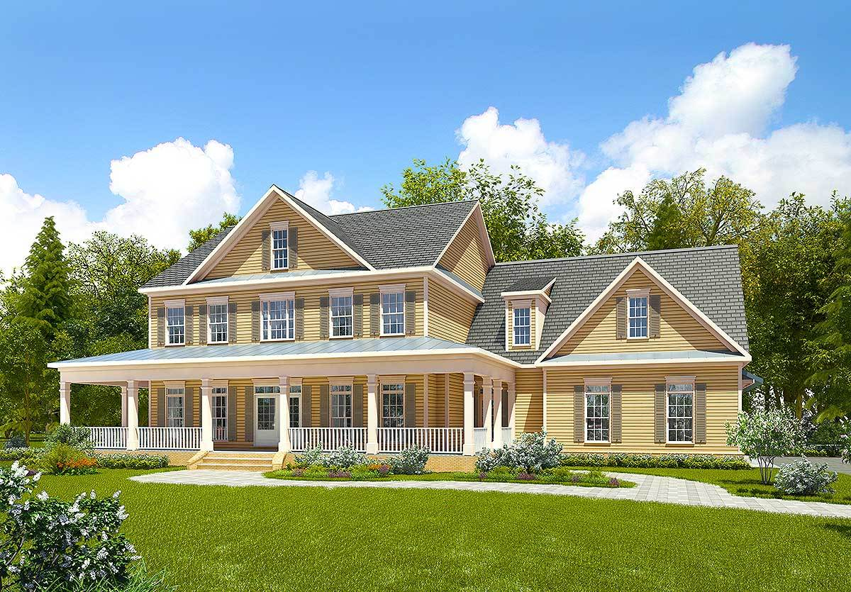 Spacious farmhouse with bonus room 36064dk for Spacious house plans
