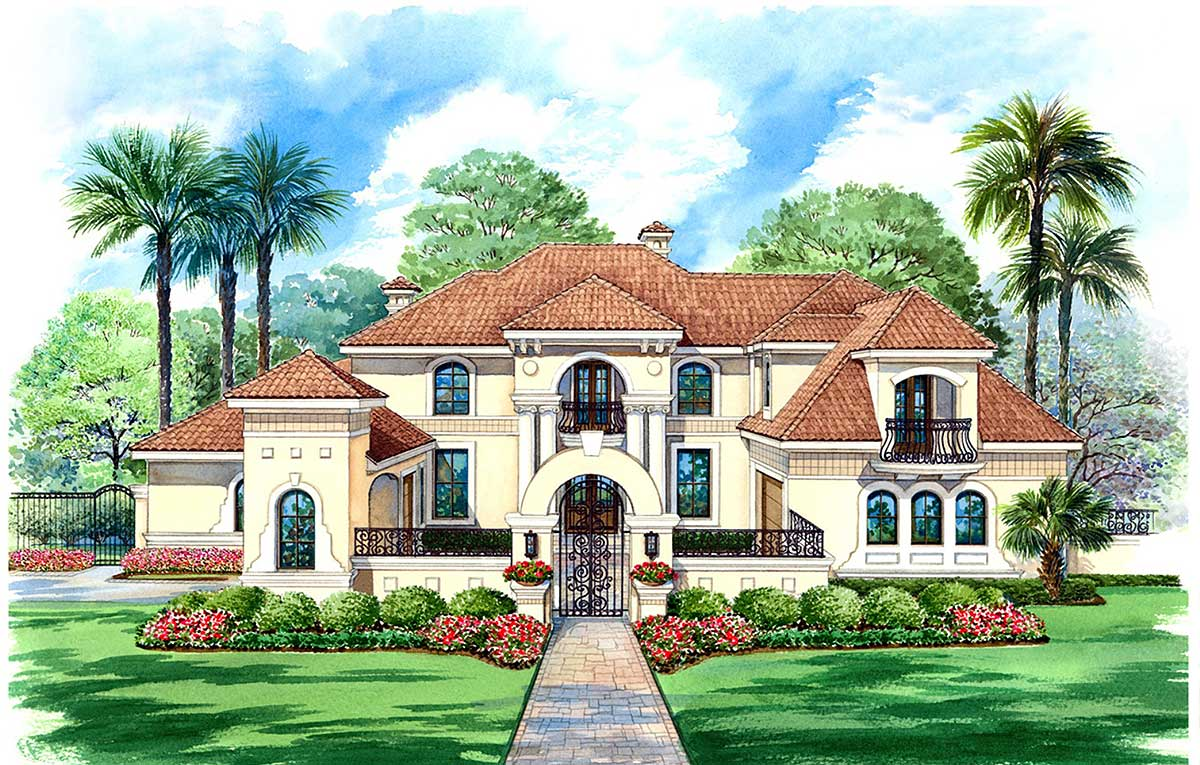 Stately motor court and high ceilings 36125tx for High ceiling house plans in tamilnadu