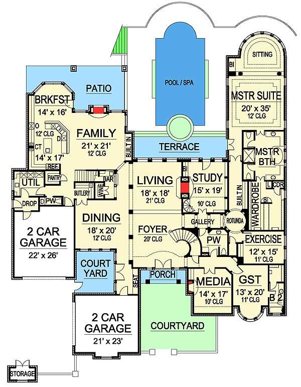 Stunning European Home Plan - 36154TX | Architectural Designs ...