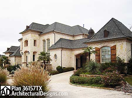 Dramatic manor home plan 36157tx 1st floor master for French manor house plans