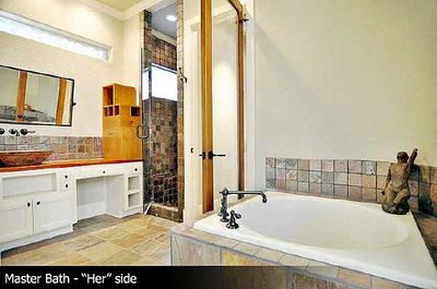 his and her bathrooms - 36170tx | architectural designs - house plans